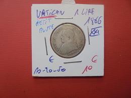 """VATICAN 1 LIRE 1866 ARGENT """"PETIT BUSTE"""" - Vatican"""