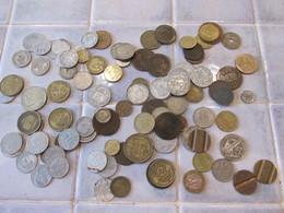 Lot De Pieces De Monnaie France Et Etranger - Monnaies & Billets