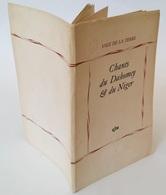 Chants Du Dahomey Et Du Niger / Paul Mercier (trad.) ; Jean Rouch (trad.). - Paris : GLM, 1950 - Autres
