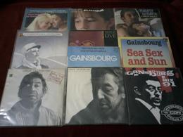 SERGE ET CHARLOTTE  GAINSBOURG  ° COLLECTION DE 10 / 45 TOURS - Vollständige Sammlungen