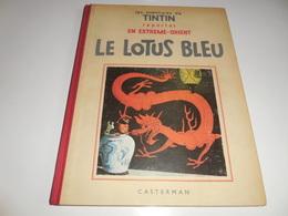 FAC SIMILE TINTIN NOIR ET BLANC/ LE LOTUS BLEU/ BE - Tintin