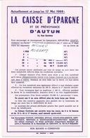Buvard  De La CAISSE D'EPARGNE D'AUTUN - 280119 - Buvards, Protège-cahiers Illustrés