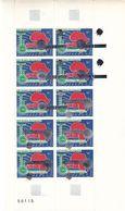 Espace - Satellite - Rwanda - COB PA 3 ** - Feuilles De 10 Avec Surcharge Argent Décalée Ou Renversée - Rare - Poste Aérienne