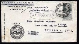 A5778) Mexiko Brief Mexico 12.09.47 N. Bremen / Germany - Mexiko