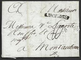 1789 - LAC - LIBOURNE 33mm X 5mm. Gironde. Ind. 12 - 1701-1800: Précurseurs XVIII