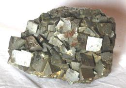 611 - PIRITE XX CUBICI - ISOLA D'ELBA Dimensioni Mm. 100x80x70 Peso Gr 1220 - Minerals