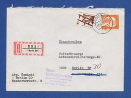 BERLIN R-Brief, Einschreiben MiF Defekte Leiter, Dr. Gustav Heinemann 1975 - Briefe U. Dokumente