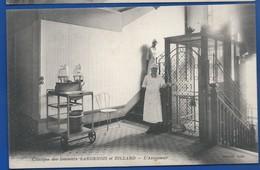 REIMS    Clinique Des Docteurs LARDENOIS Et BILLARD   L'Ascenseur   Animées - Reims