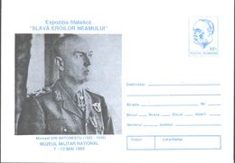 MILITARIA, MARSHAL ION ANTONESCU, COVER STATIONERY, 1995, ROMANIA - Militaria