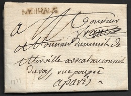 1779 - LAC - MOIRANS 27mm X 4mm (Isere). Ind. 13 - Marcofilie (Brieven)