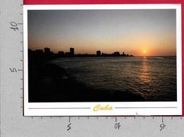 CARTOLINA VG CUBA - LA HABANA - Atardecer Sobre La Ciudad - 12 X 17 - ANN. 2005 ZOOLOGICO NACIONAL - GIRAFFA - Cuba
