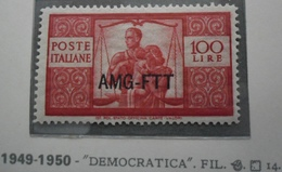 TRIESTE A   1950 Democratica Lire 100  MNH ** - Ungebraucht