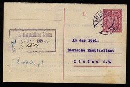 A5780) Österreich Austria Karte Bregenz 7.08.19 An Hauptzollamt Lindau - 1918-1945 1. Republik