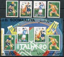 1990-SOMALIA-FOOT BALL- RARE SET + S.S.  5 VAL.- M.N.H. -LUXE ! - Somalia (1960-...)