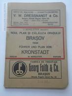 ZA151.21  BRASOV KRONSTADT Romania  1934  Noul Plan Si Calauza Orasului -Verlag M.Bergleiter - Unclassified