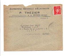 PETAIN SUR LETTRE A EN TETE DE PEYRUS DROME 1941 - Poststempel (Briefe)