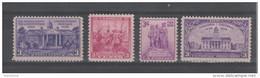 USA  1938  N° 400 à 403  Neuf X X  (4 Valeurs.) - Vereinigte Staaten