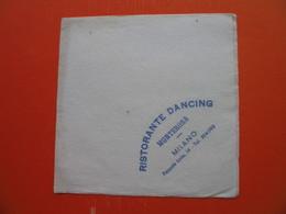 Paper Napkin.Milano.RISTORANTE DANCING MONTEROSA,Piazzale Lotto,14 - Serviettes Publicitaires