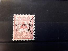 NEW NOUVELLES HEBRIDES, 1908, Type Cagou Surchargé,  Yvert No 2, 10 C Rose Obl TB - Oblitérés