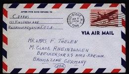 A5781) USA Luftpostbrief Wood-Ridge 02.01.48 N. M. Gladbach - Vereinigte Staaten