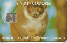 CARTE-PUCE-25U-SC7-SNPT COMORES-MAKI-UTILISE-V°Sans N°-TBE - Comore