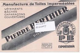 Buvard - Imperméables Pierre BERTHIER à ROANNE 42 -  320119 - Buvards, Protège-cahiers Illustrés