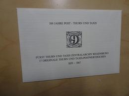 Thurn & Taxis 17 Postfrische Briefmarken (9554) - Thurn Und Taxis