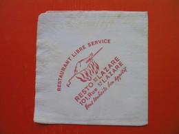 Paper Napkin.RESTAURANT RESTO ST.LAZARE - Serviettes Publicitaires