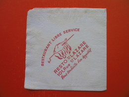 Paper Napkin.RESTAURANT RESTO ST.LAZARE - Tovaglioli Bar-caffè-ristoranti