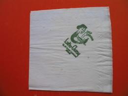 Paper Napkin.RESTAURANT SELF SERVICE.Latin-Cluny,SAINT GERMAIN,PARIS - Company Logo Napkins