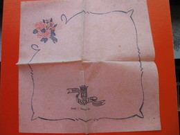 Paper Napkin.HOTEL PARIS,MADRID - Serviettes Publicitaires