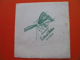 Paper Napkin.Railway-train.RESTAURATIE Centraal Satiton ROTTERDAM - Company Logo Napkins