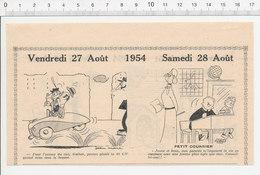 2 Scans 1954 Humour Niche Très Petit Chien Bouledogue Hoquet Gaétan 40 Cv (Renault 40CV ??)  223XL - Vieux Papiers