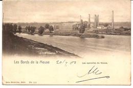 WANZE LES SUCRERIES DE WANZE  BORD  DE LA MEUSE CACHET ERQULINNES 1903 R 6/151  D6 - Wanze