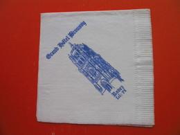 Paper Napkin.Grand Hotel Broussy.Rodez - Tovaglioli Bar-caffè-ristoranti