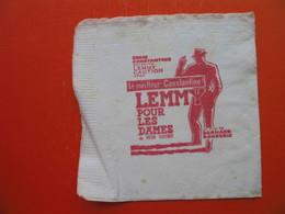 Paper Napkin.UN FILM DE BERNARD BORDERIE.LEMMY - Serviettes Publicitaires