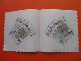 3 Old Paper Napkins.Cards - Serviettes Publicitaires