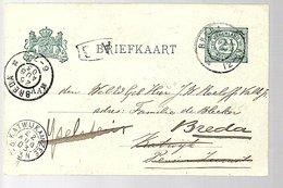 Kleinrond KATWIJK AAN ZEE 1903 > Resent Pension Zeerust J.W. Roeloffs Valk Foei: Absent! (BP-33) - Marcofilia