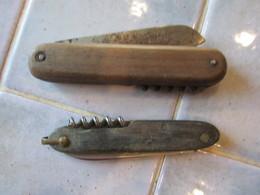 2 Couteau Pliant Canif - Pradel Et Inox - Autres Collections