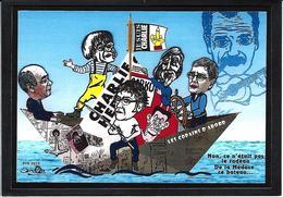 CPM Charlie Hebdo Jihel Tirage Signé 30 Exemplaires Numérotés Signés Wolinski Cabu Honoré Charb Brassens - Glaube, Religion, Kirche