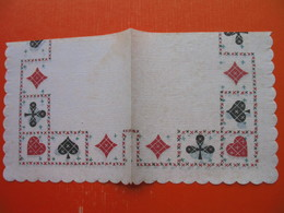 6 Old Paper Napkins.Spade,diamond,club,...(playing Cards) - Reclameservetten