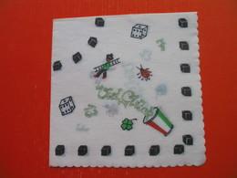 2 Old Paper Napkins.Dice.Gamble Game - Werbeservietten