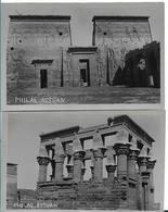 EGYPTE  PHILAE ASSUAN LOT 2 CARTES NON ECRITES ASSOUAN - Aswan