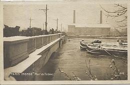 X120373 PARIS INONDE INONDATIONS INONDATION CRUE DE LA SEINE 1910 CATASTROPHE NATURELLE PONT DE TOLBIAC - District 12