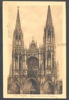 BUGLE-POSTHORN CANCELL ON ROUEN- ST AUDOIN CHURCH POSTCARD, BERTHELOT FRENCH STAMP, 1932, ROMANIA - Otros