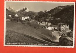VAI-24 Santa Cristina Valgardena Dolomiti. Verso Cir E Sella. Viaggiata Per La Svizzera - Italia