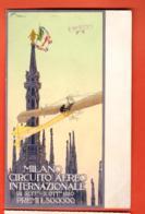VAI-25 Milano Circuito Aereo Internazionale 1910. Litho.  Viaggiata Per La Svizzera - Milano