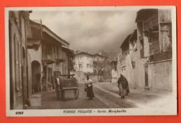 VAI-27 Torre Pellice  Santa Margherita. ANIMATA. Attelage. Viaggiata In 1924 Per La Svizzera - Altre Città