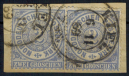 Norddeutscher Bund 17 Paar 2 Gr. Mit K2 Kiel 6.11.1869 Auf Briefstück - Conf. De L' All. Du Nord
