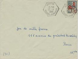 1966- Enveloppe De HELETTE ( Basses Pyrénées ) Cad Agence Postale Hexagone. Pointillé Sur 30 C Coq - 1961-....